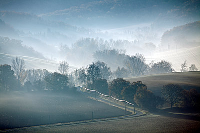Wafts of mist in the countryside - p265m1092344 by Oote Boe