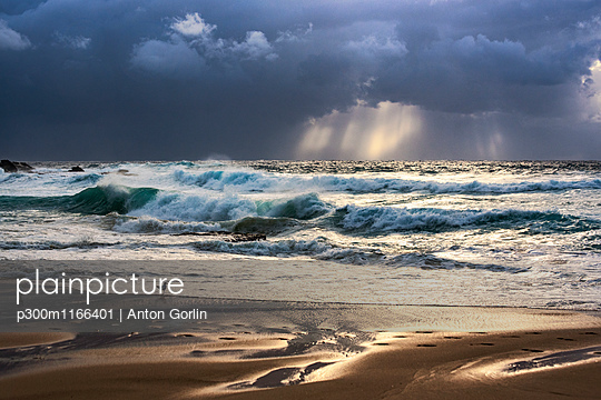 Australia, New South Wales, Maroubra, beach in the evening - p300m1166401 by Anton Gorlin