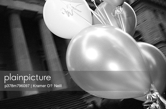 Balloons and Roman columns - p378m796097 by Kramer O'Neill