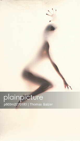 Silhouette of a young woman - p803m2270183 by Thomas Balzer