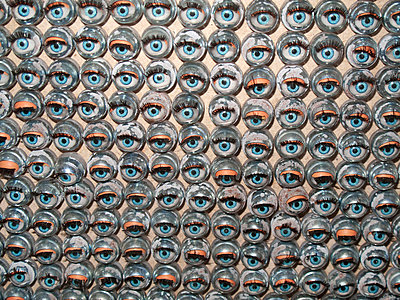 Display of creepy dolls eyes - p1072m829376 by Neville Mountford-Hoare
