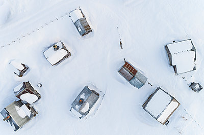 Aerial view of buildings at winter - p312m1407590 by Mikael Svensson