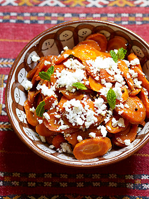 Carrot and mint salad, Morocco, North Africa - p349m2167706 by Polly Wreford