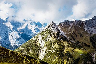 Wetterstein mountains - p416m1060527 by Jörg Dickmann