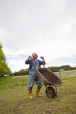 Gartenarbeit - p586m739315 von Kniel Synnatzschke