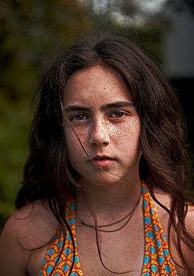 Young Girl in Bikini Top - p1260m1083527 by Ted Catanzaro