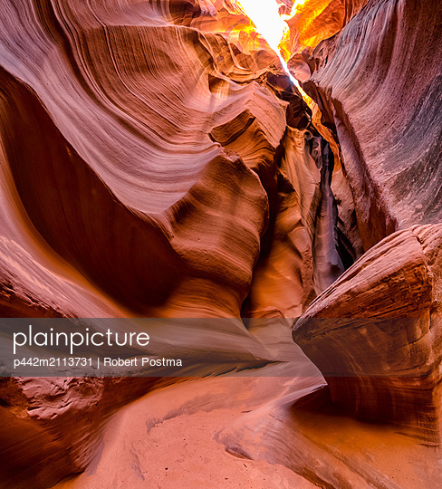 Slot Canyon known as Canyon X, near Page; Arizona, United States of America - p442m2113731 by Robert Postma