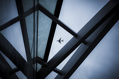 Airplane in the sky - p1057m1425757 by Stephen Shepherd