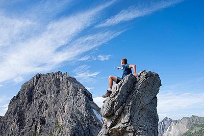 Mindelheimer Klettersteig, Schafalpenkopf - p427m859409 von R. Mohr