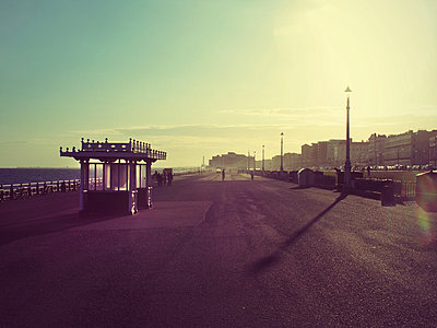Brighton promenade in afternoon sun  - p1072m829459 by Neville Mountford-Hoare