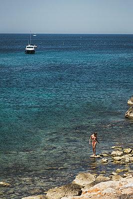 View of Mediterranean sea - p1290m1169437 by Fabien Courtitarat