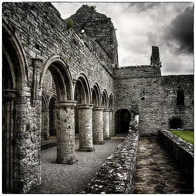 Arches and Walk - p1154m1074084 by Tom Hogan