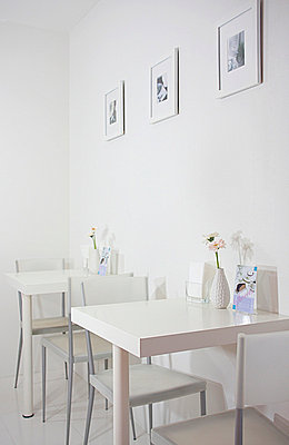 Modern White Dining Tables - p307m660256f by AFLO