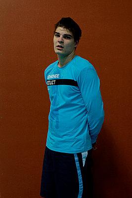 Portrait of a sportman - p1151m956048 by Laure Ledoux