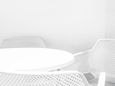 Plastic furniture - p1280m1496136 by Dave Wall