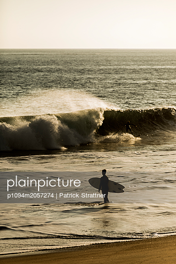 Surfer on the Beach - p1094m2057274 by Patrick Strattner