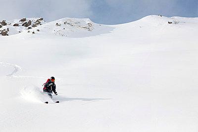 Skier in Engleberg - p3227365 by Simo Vunneli