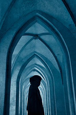 Monk in the monastery - p470m2089747 by Ingrid Michel