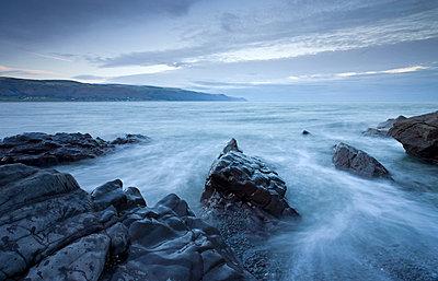 Rocky shore at Bossington Beach, Exmoor National Park, Somerset, England, United Kingdom, Europe - p8713012 by Adam Burton