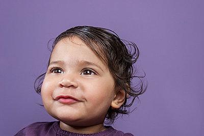 Baby's expressions - p448m710484 by Safia Fatimi