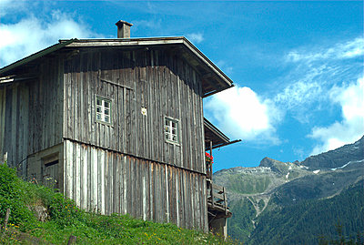 Wooden cabin - p5980020 by Patricia Seibert