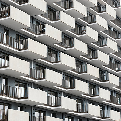 Apartments with balcony - p1383m2116839 by Wolfgang Steiner