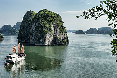 Ship on the Ha Long bay - p1445m2082659 by Eugenia Kyriakopoulou