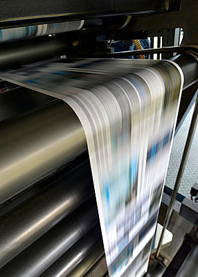 Printing of newspapers in a printing shop - p300m2213851 by lyzs