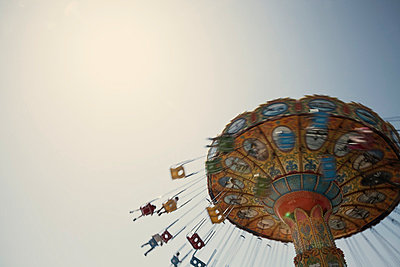 Funfair ride - p495m831558 by Jeanene Scott