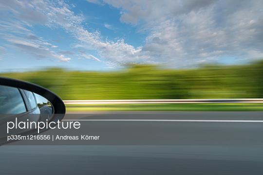 Motorway driving - p335m1216556 by Andreas Körner