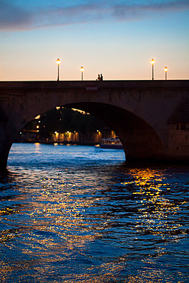 Bridge in Paris at night - p873m1460966 by Philip Provily