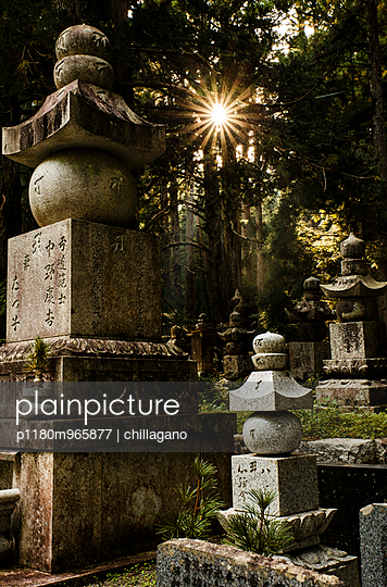 Japanese graveyard at Koyasan - p1180m965877 by chillagano