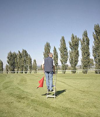 Man waiting - p9111519 by Gaëtan Rossier