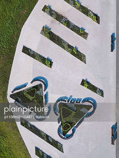 Aerial view of gardens - p1108m2110487 by trubavin