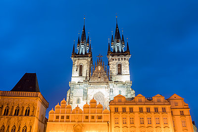 Church of Our Lady before Týn, at night, Prague - p1332m2205621 by Tamboly