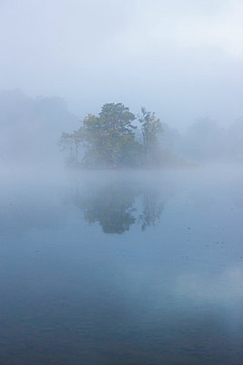 View of Fog on Staffelsee island - p300m827020f by Martin Moxter