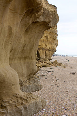 Hive Beach cliffs 3 - p1072m836217 by Gail Symes