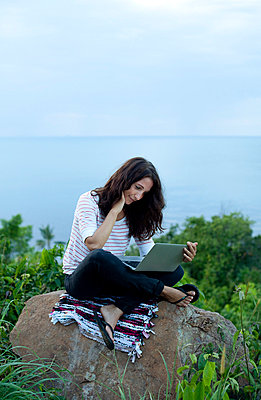 Working during vacation - p801m764326 by Robert Pola