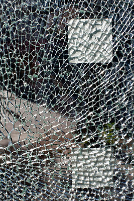 Broken glass - p4450789 by Marie Docher
