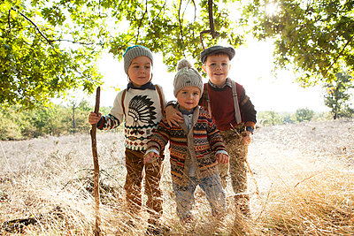 Autumn boys - p547m1034552 by Liza Rothfuss