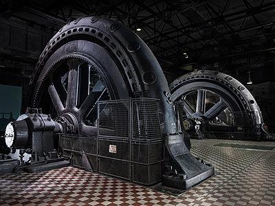 Industrial monument of the turbine hall, Völklinger Hütte - p390m2063878 by Frank Herfort