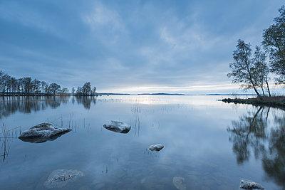 Lake in Ekereo, Sweden - p352m1536554 by Calle Artmark