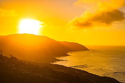 Sonnenuntergang am Pazifik in Neuseeland - p1455m2203671 von Ingmar Wein