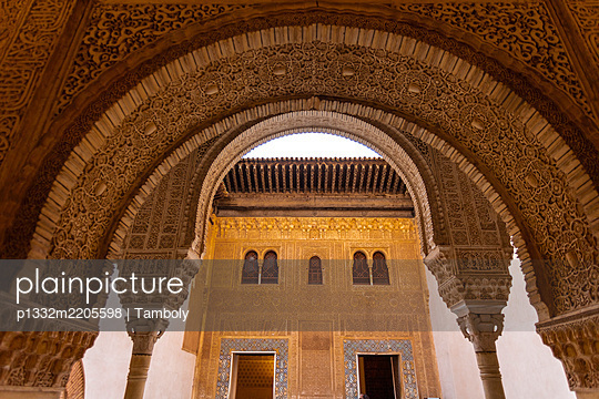 Spain, Granada, Alhambra Palace - p1332m2205598 by Tamboly