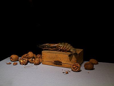 Prawn and walnuts - p444m924670 by Müggenburg
