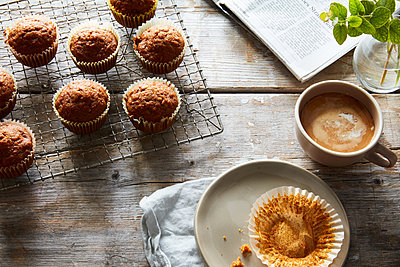 carrot muffins - p1379m1525674 by James Ransom