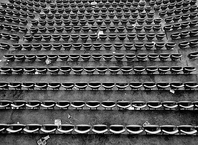 Folding chair in a stadium - p2280555 by photocake.de