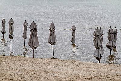 Strand am Rhein in Wiesbaden - p4170190 von Pat Meise