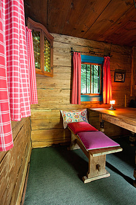 Log Cabin chalet interior wooden Austria  - p609m765469 by WRIGHT