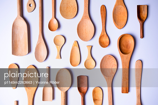 Wooden spoons - p1149m2263663 by Yvonne Röder